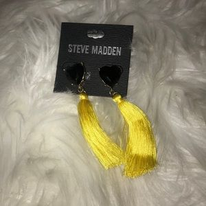 Steve Madden Yellow tassel earrings